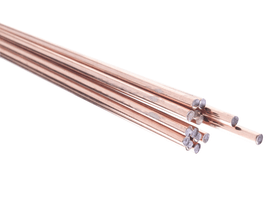 Electrode à fil plein cuivre pour la soudure à l'autogène