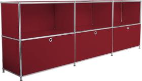 FLEXCUBE Sideboard 401809600030 Grösse B: 227.0 cm x T: 40.0 cm x H: 80.5 cm Farbe Rot Bild Nr. 1