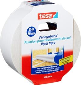 Ruban de pose pour moquettes, s'enlève sans laisser de trace Rubans adhésifs Tesa 663059500000 Couleur Blanc Taille L: 25.0 m x L: 50.0 mm Photo no. 1