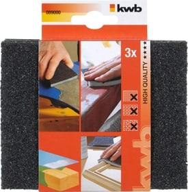 Éponges abrasives BOIS & MÉTAL, fin/moyen/gros 3 pcs. kwb 610508700000 Photo no. 1