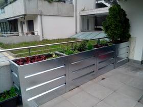 Jardin surélevé avec palier