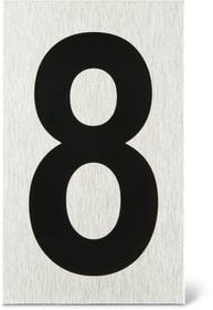 Placca porta numero 8 Enseigne de porte Alpertec 614103660580 N. figura 1