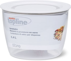 STORE Récipients à provisions en verre 0.4L M-Topline 703729300001 Couleur Transparent, Blanc Dimensions H: 7.5 cm Photo no. 1