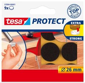 Feutres anti-rayures ronds, brun, 26mm Tesa 663079700000 Photo no. 1