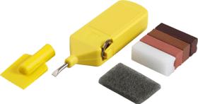 Kit de réparation du sol foncé à base de cire dure
