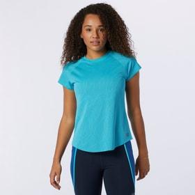 Q Speed Fuel Jacquard Short Sleeve Damen-T-Shirt New Balance 470455400340 Grösse S Farbe blau Bild-Nr. 1