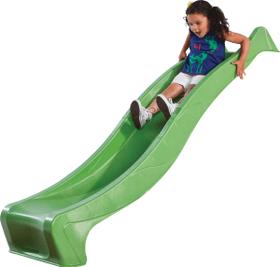 Toboggan en plastique avec vague vert, 300 cm