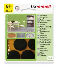 Filzgleiter 3 mm / Ø 28 mm 8 x Filzgleiter Fix-O-Moll 607067800000 Bild Nr. 1