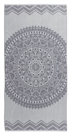 TERE Serviette de plage 450863222581 Dimensions L: 90.0 cm x H: 180.0 cm Couleur Gris Photo no. 1