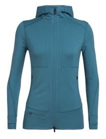 Quantum LS Zip Hood Veste en polaire pour femme Icebreaker 465772300315 Couleur émeraude Taille S Photo no. 1