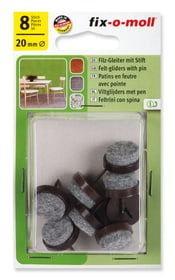 Patins de feutre avec clou 4 mm / Ø 20 mm 8 x Patins Fix-O-Moll 607069800000 Photo no. 1