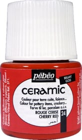PÉBÉO Ceramic Keramikmalfarbe 24 Cherry Red 45ml Pebeo 663510000400 Farbe Kirschrot Bild Nr. 1