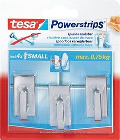 Powerstrips Haken small Classic Klebehaken Tesa 675671500182 Farbe Silberfarben Bild Nr. 1