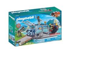 Playmobil Barca con gabbia per dinosauri 9433 746097700000 N. figura 1