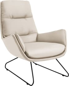 ANDRES Fauteuil 402473307010 Dimensions L: 83.0 cm x P: 94.0 cm x H: 97.0 cm Couleur Blanc Photo no. 1