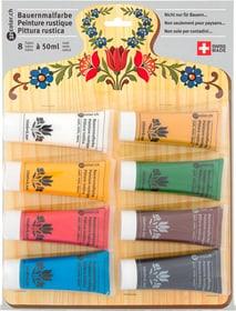 Bauernmalfarbe matt 8 Tuben à 50ml 321Color 661405200000 Bild Nr. 1
