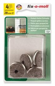 Piedini per parquet in viti 5 mm / Ø 28 mm 4 x Fix-O-Moll 607073900000 N. figura 1