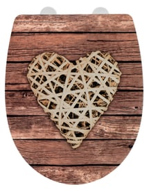 Abattant Curly Heart surface avec relief WENKO 674046100000 Photo no. 1