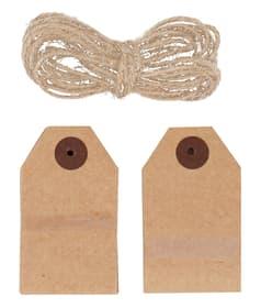 CHUCK Etiquettes cadeau bois ass. 440682500000 Photo no. 1