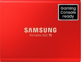 Portable SSD T5 1To Metallic Red SSD externe Samsung 785300144521 Photo no. 1