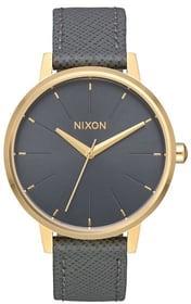 Kensington Leather Gold Charcoal 37 mm Armbanduhr Nixon 785300137015 Bild Nr. 1