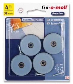 Universalgleiter mit Schrauben 5 mm / Ø 38 mm 4 x Fix-O-Moll 607079000000 Bild Nr. 1