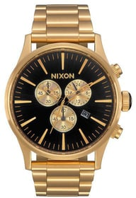 Sentry Chrono All Gold Black 42 mm Orologio da polso Nixon 785300137062 N. figura 1