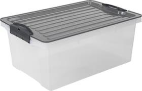 Compact Aufbewahrungsbox 13l mit Deckel, Kunststoff (PP) BPA-frei, grau/transparent, A4 Aufbewahrungsbox Rotho 603357000000 Bild Nr. 1
