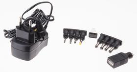 Universal-Steckernetzgerät 600mA schwarz Netzgerät Max Hauri 613185200000 Bild Nr. 1
