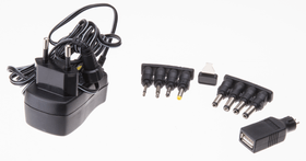 Universal-Steckernetzgerät 600mA schwarz Max Hauri 613185200000 Bild Nr. 1