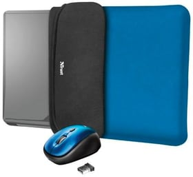 Bundle Yvo Reversible 15.6 Sleeve + Wireless Mouse blue Housse réversible + Wireless souris Trust 798275100000 Photo no. 1