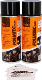 Pellicola Spray nero brilliant 400 ml 2 pz Spray per cerchioni FOLIATEC 620283700000 N. figura 1