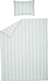 TIRA Fourre de duvet en percale 451288112341 Couleur Turquoise Dimensions L: 160.0 cm x H: 210.0 cm Photo no. 1