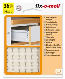 Lärmstopper Ø 10 mm 36 x Universalschutzpuffer Fix-O-Moll 607083200000 Bild Nr. 1