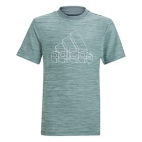 AEROREADY HEATHER TEE Fitnessshirt Adidas 466834417660 Grösse 176 Farbe Grün Bild-Nr. 1