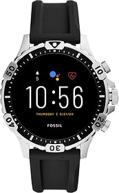 Garrett HR Silicone Argent 46mm Smartwatch Fossil 785300151288 Photo no. 1