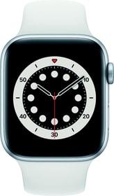 Watch Series 6 LTE 44mm Silver Aluminium White Sport Band Smartwatch Apple 785300155505 Bild Nr. 1