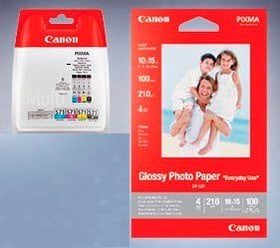 CLI-571 Multipack + Glossy photo paper GP-501