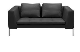 BADER 2er-Sofa 405686120320 Grösse B: 174.0 cm x T: 105.0 cm x H: 80.0 cm Farbe Schwarz Bild Nr. 1