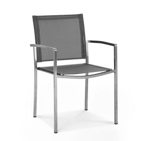 CREMONA Stuhl mit Armlehne 368016700000 Grösse B: 54.0 cm x T: 48.5 cm x H: 85.0 cm Farbe Silberfarben Bild Nr. 1