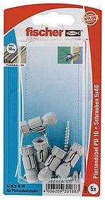 Plattendübel PD 10 inkl. Schrauben fischer 605432400000 Bild Nr. 1