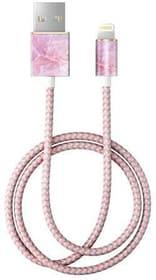 "Câble 1.0m, Lightning->USB  ""Pilion Pink Marble"" Câble iDeal of Sweden 785300148080 Photo no. 1"