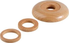 Rosaces en bois pour tuyaux de chauffage, 2 pces
