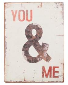 YOU & ME Panneau décoratif 431821500000 Dimensions L: 26.0 cm x P: 0.2 cm x H: 35.0 cm Photo no. 1