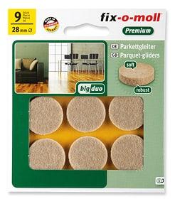 Patins pour parquet 5 mm / Ø 28 mm 9 x Patins pour parquet Fix-O-Moll 607071000000 Photo no. 1