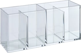 ACRYL box avec 4 compartiments 442089700110 Couleur Transparent Dimensions L: 22.0 cm x P: 6.9 cm x H: 9.7 cm Photo no. 1