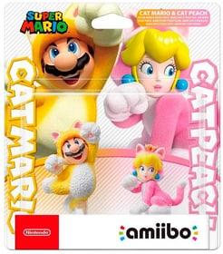 Amiibo Doppelpack Katzen-Mario und Katzen-Peach Box 785300155312 Photo no. 1