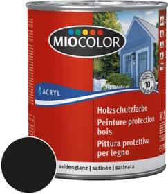 Peinture de protection pour le bois Noir 750 ml Miocolor 661117700000 Couleur Noir Contenu 750.0 ml Photo no. 1