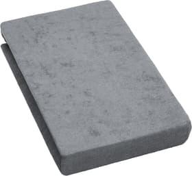 PABLO Frottée-Fixleintuch 451054130380 Grösse B: 90.0 cm x H: 200.0 cm Farbe Grau Bild Nr. 1