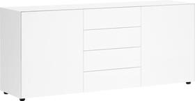 LUX Sideboard 400820000010 Dimensioni L: 180.0 cm x P: 46.0 cm x A: 72.5 cm Colore Bianco N. figura 1